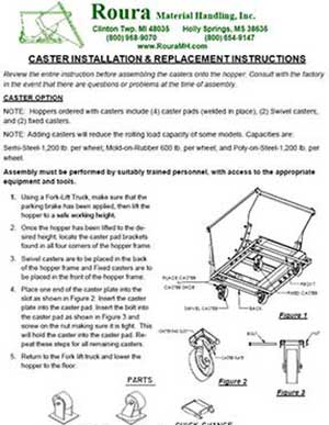 Caster mounting and installation instructions